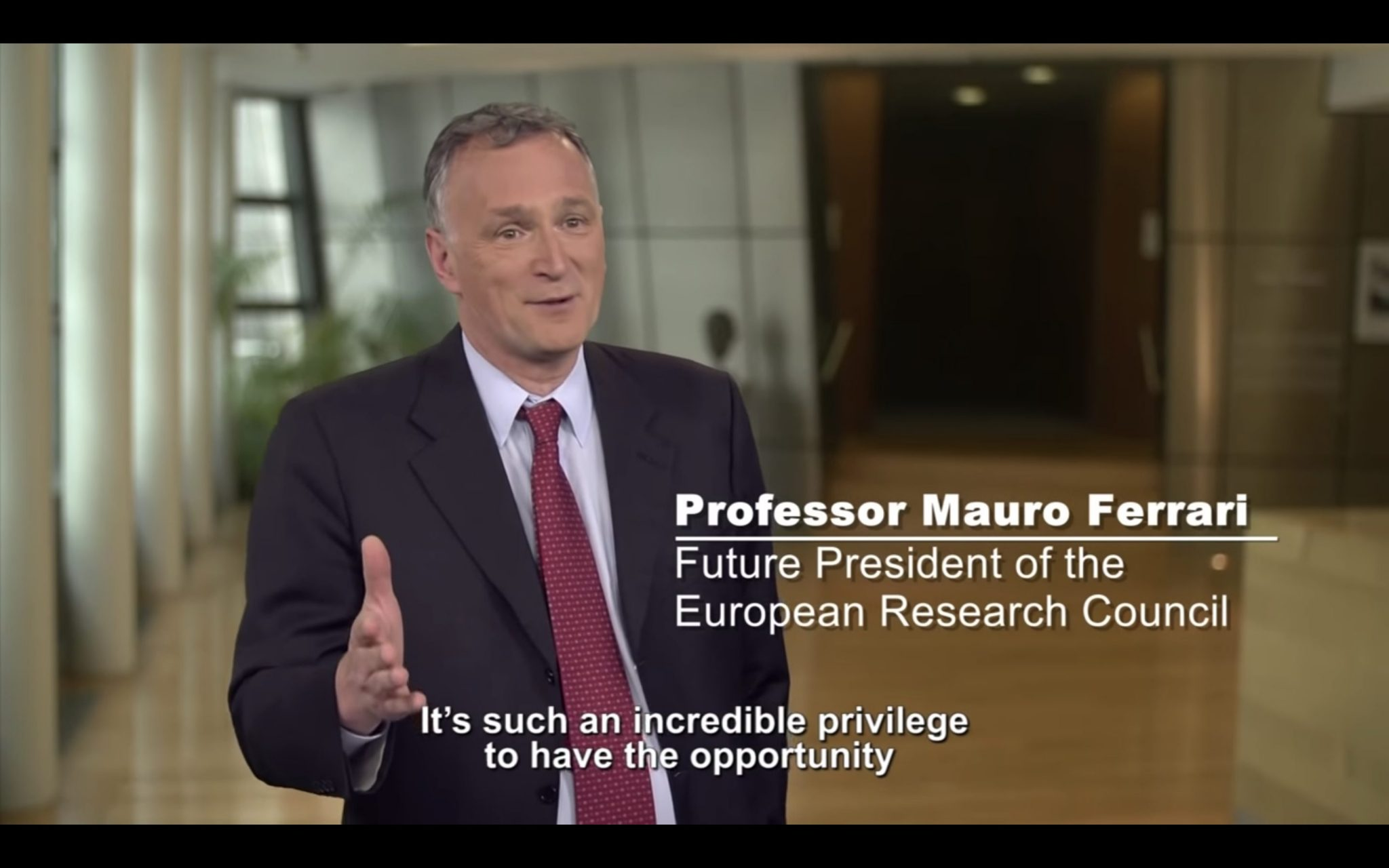Prof. Mauro Ferrari, pioneer in Nanomedicine, is the future President of E.R.C.