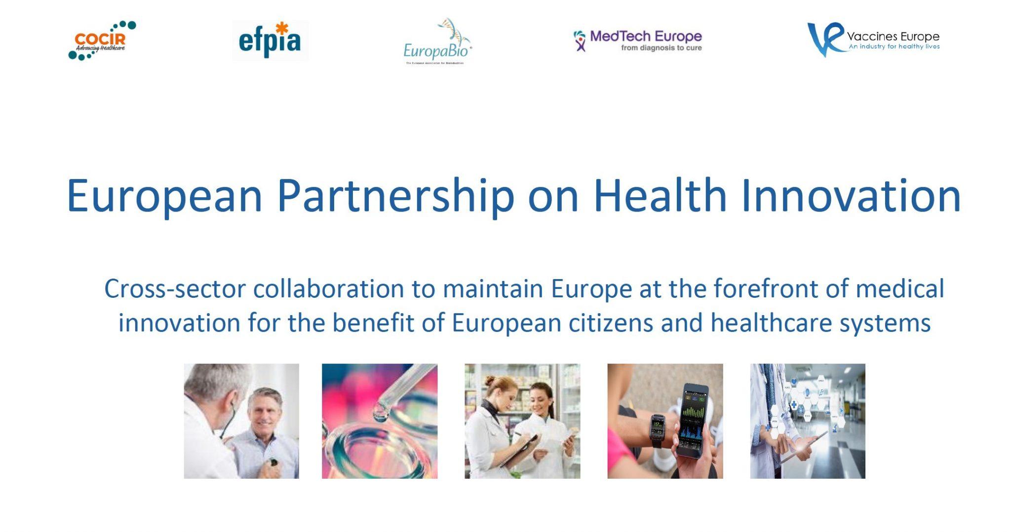European Partnership on Health Innovation PPP NOBEL ETPN EFPIA COCIR Europa Bio MedTech Europe Vaccines