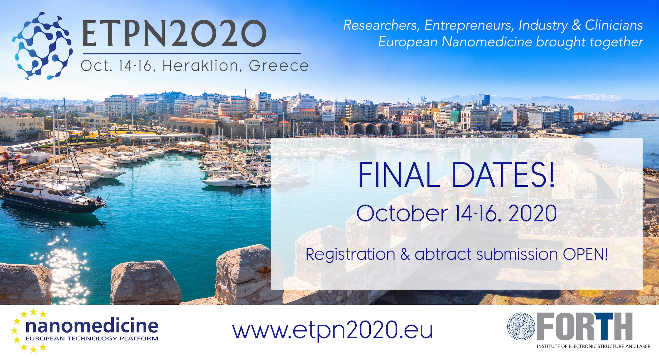 POSTPONEMENT of ETPN2020: new dates on Oct. 14-16 & keynote speakers announced!