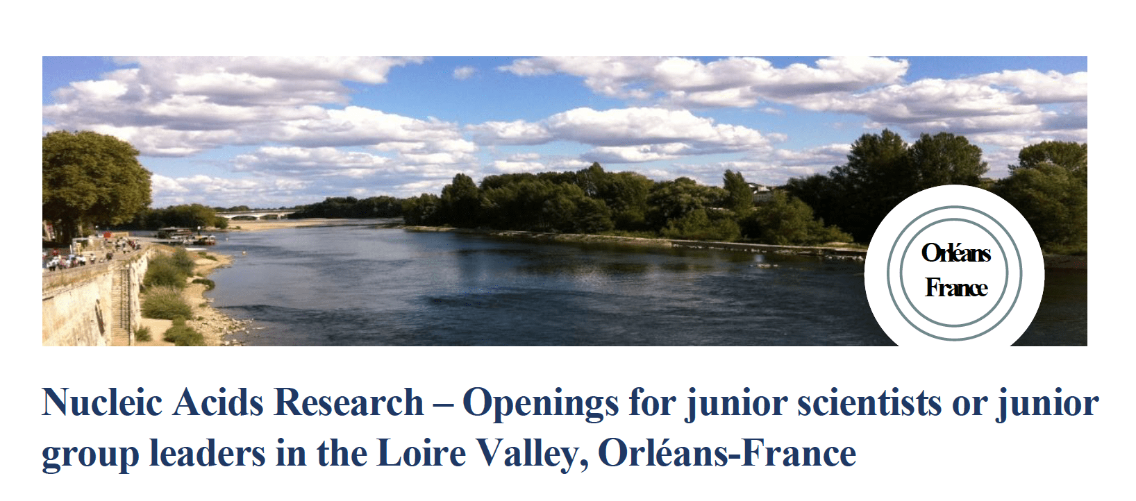Nucleic Acids Research – Openings for junior scientists or junior group leaders at CNRS in France