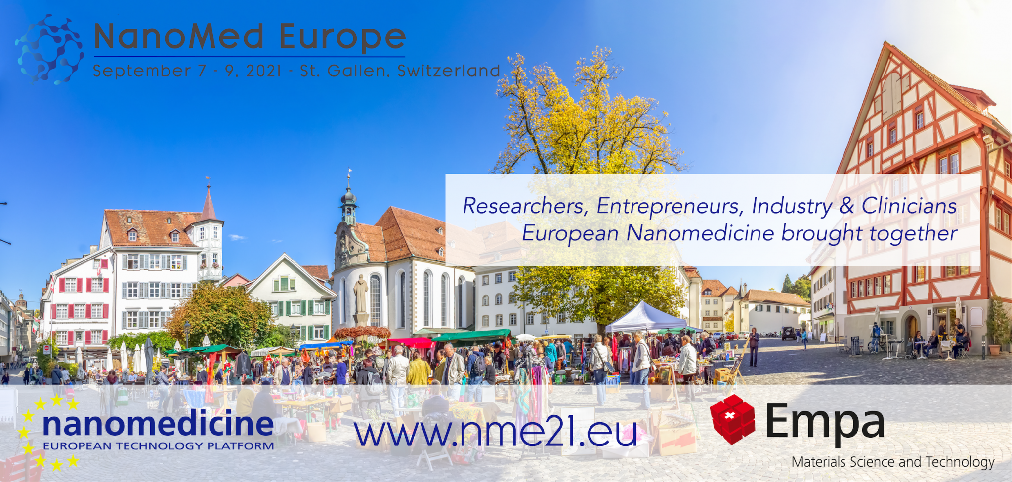 NEW DATES: Nanomed Europe 21 is postponed to Sept. 7-9. Keynote speakers announced!