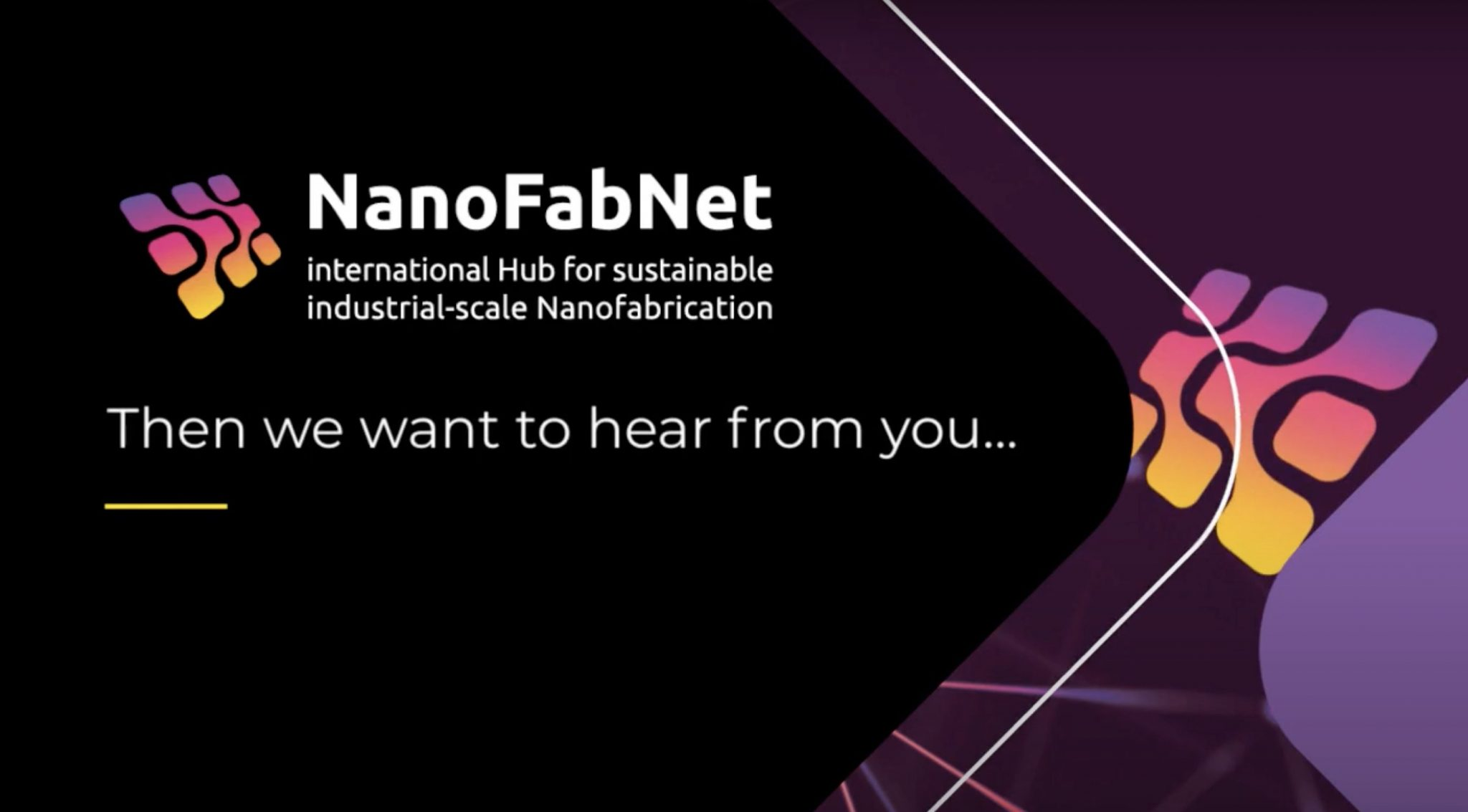 Answer the two surveys of NanoFabNet Hub about sustainable nanofabrication.