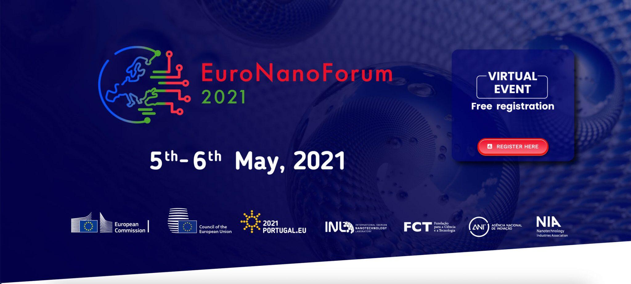 EuroNanoForum 2021, organized by INL