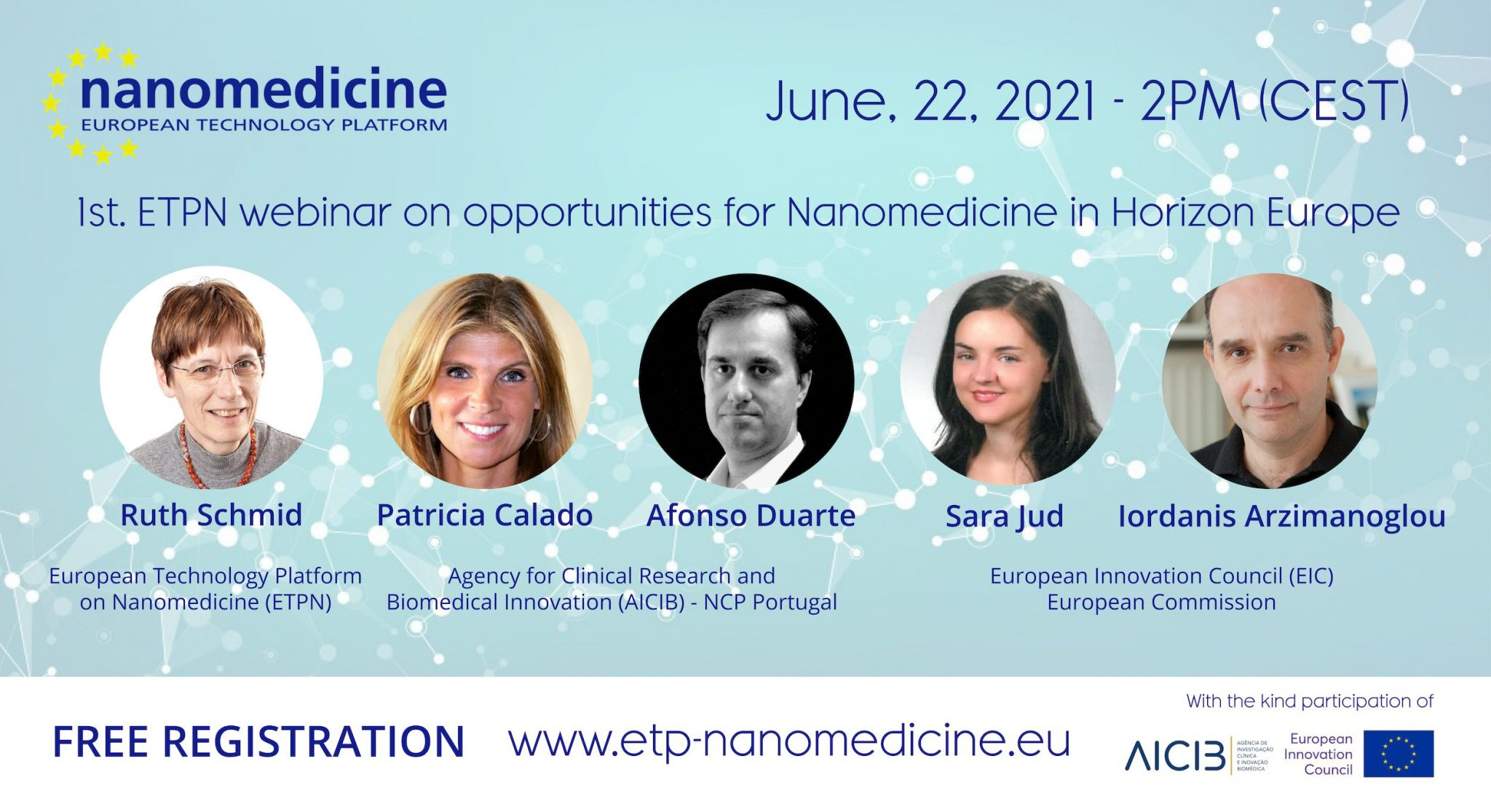 1st. ETPN webinar & brokerage event on Horizon Europe: new opportunities for nanomedicine!