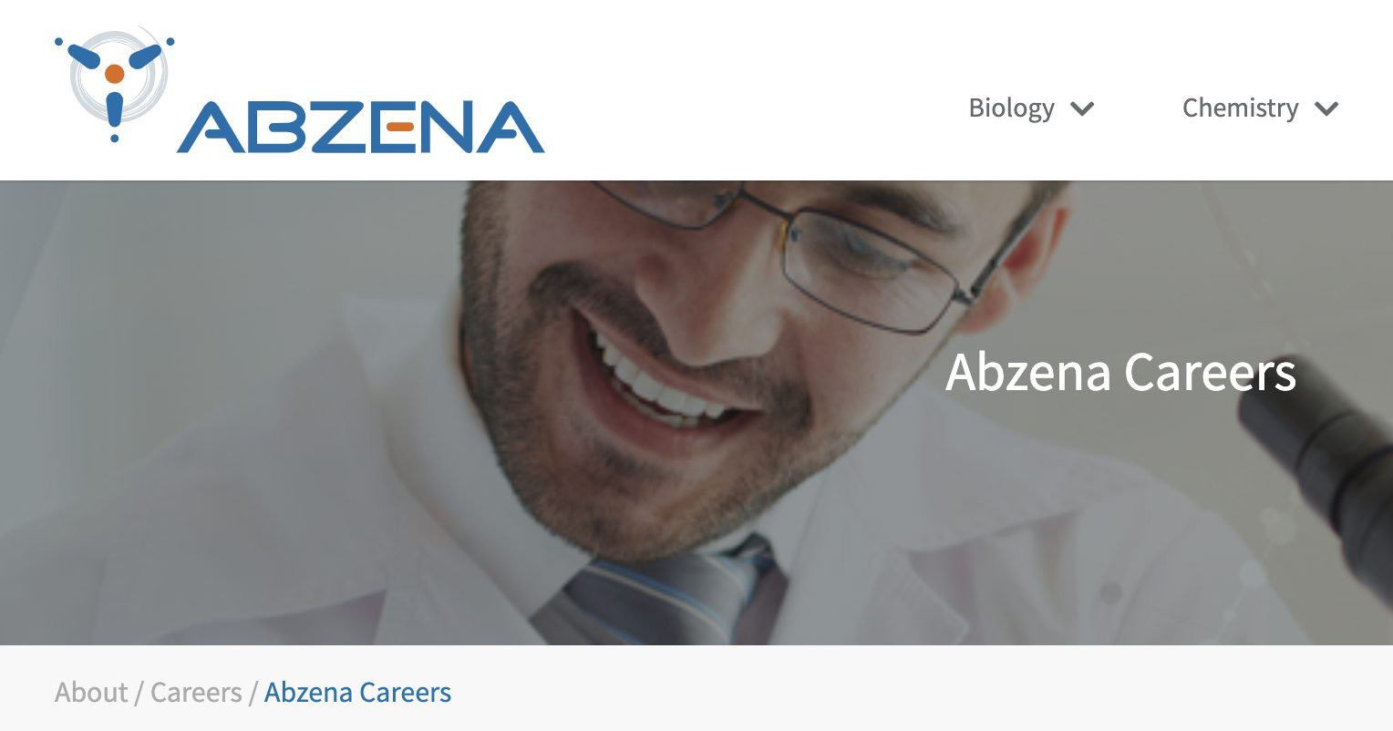 Open positions for scientists in Bioconjugation at Abzena (Cambridge, UK)